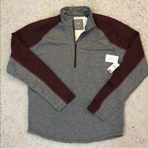 GAP Men's Raglan zip anti-moisture exercise shirt
